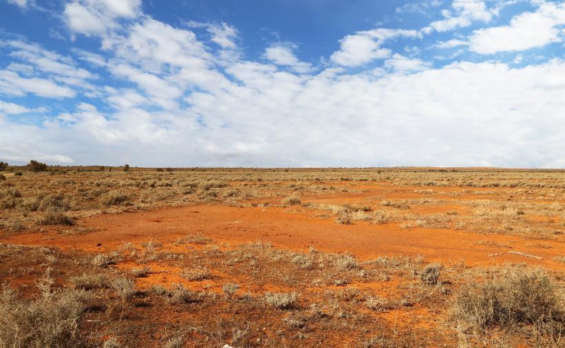 australien wüste sand rot